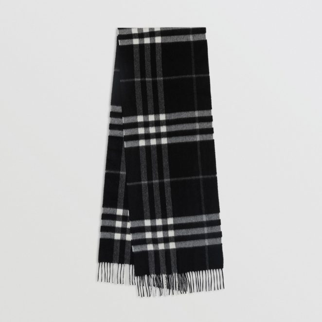 Burberry Colour Black Cashmere Scarf