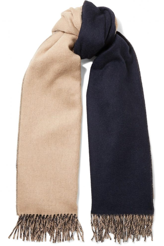 Johnstons of Elgin: Reversible Fringed Cashmere Scarf